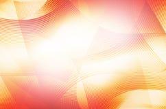 Abstracte oranje lijnachtergrond Stock Afbeelding