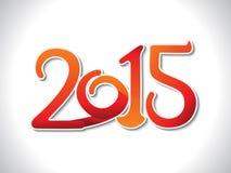 Abstracte oranje nieuwe jaartekst Royalty-vrije Stock Fotografie