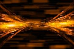 Abstracte oranje technologie-achtergrond Stock Foto's