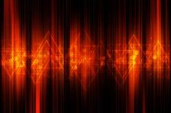 Abstracte oranje technologie-achtergrond Stock Fotografie
