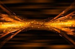 Abstracte oranje technologie-achtergrond Royalty-vrije Stock Foto's