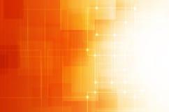 Abstracte Oranje technologieachtergrond Royalty-vrije Stock Afbeeldingen