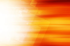 Abstracte Oranje technologieachtergrond Royalty-vrije Stock Foto's