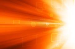 Abstracte Oranje technologieachtergrond Royalty-vrije Stock Afbeelding