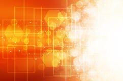 Abstracte Oranje technologieachtergrond Stock Fotografie