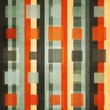 Abstracte oranje vierkante naadloos met grungeeffect Royalty-vrije Stock Foto's