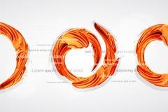 abstracte oranje werveling als spoor van verf   stock illustratie