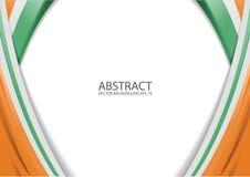 Abstracte oranje witte groene moderne achtergrond Royalty-vrije Stock Afbeelding