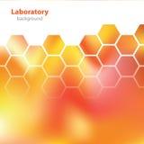 Abstracte oranjerode laboratoriumachtergrond. Royalty-vrije Stock Afbeelding