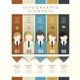 Abstracte origamibanner met zakenmaninfographics Stock Foto's