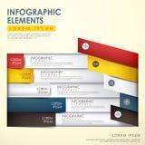 Abstracte origamiinfographics Royalty-vrije Stock Fotografie