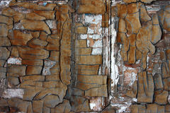 Abstracte oude grunge gebarsten verfachtergrond Stock Foto