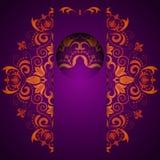 Abstracte overladen decoratieve achtergrond met mandala stock illustratie