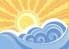 Abstracte overzeese golven. Stock Fotografie
