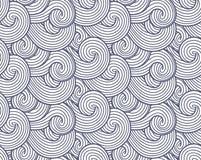 Abstracte overzeese, oceaan en rivier vector de golvenachtergrond van de van de van de windtextuur, Rook en stoom grijs patroon royalty-vrije illustratie