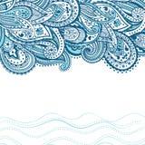 Abstracte Paisley achtergrond Royalty-vrije Stock Afbeelding