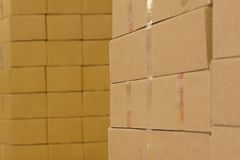 Abstracte pakketgroep stock afbeelding