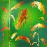 Abstracte palmbladen - Binnenlands behang stock illustratie