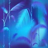 Abstracte palmbladen - Binnenlands behang royalty-vrije illustratie