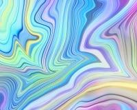 Abstracte pastelkleur holografische achtergrond, vloeibare verfkunst, iriserend veelkleurig behang, marmerende textuur, neon golv royalty-vrije stock foto's