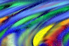 Abstracte pastelkleuren, bellen, schaduwen en lijnenachtergrond Lijnen in motie royalty-vrije illustratie