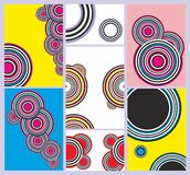 Abstracte patronen als achtergrond royalty-vrije illustratie