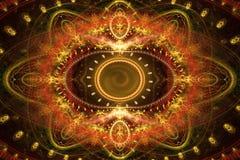 Abstracte patronen van het oostentapijt Stock Fotografie