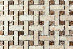 Abstracte Patroon van muur het Kleine Vierkanten Royalty-vrije Stock Fotografie