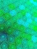 Abstracte patroonachtergrond van het gekleurde vormen 3D teruggeven Stock Afbeeldingen