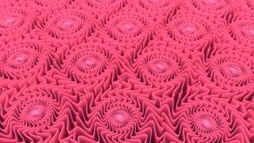 Abstracte patroonachtergrond van het roze vormen 3D teruggeven Royalty-vrije Stock Fotografie
