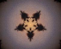Abstracte pentagoon uitgedreven mandala 3D illustratie royalty-vrije illustratie
