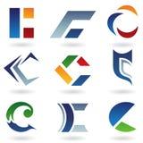 Abstracte pictogrammen die op brief C lijken Stock Fotografie