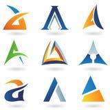 Abstracte pictogrammen die op brief A lijken Stock Foto's