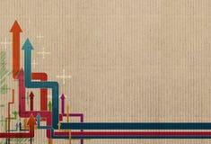 Abstracte pijl op kartondocument vector illustratie