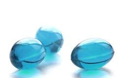 Abstracte pillen in cyaankleur Stock Fotografie