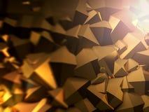 Abstracte piramidale vorm het 3d teruggeven Royalty-vrije Stock Afbeeldingen