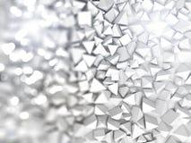 Abstracte piramidale vorm het 3d teruggeven Stock Foto