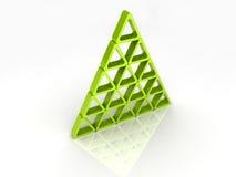 Abstracte piramide Stock Foto's