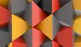Abstracte Piramideachtergrond met Oranjerood en Grey Colors Royalty-vrije Stock Foto
