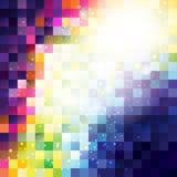 Abstracte pixelachtergrond stock illustratie