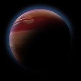 Abstracte planeet met zongloed in diepe ruimte Royalty-vrije Stock Foto