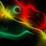 Abstracte plasmalossing als achtergrond Psychedelisch kleurenbeeld Stock Foto