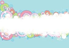 Abstracte plonsachtergrond Vector Illustratie