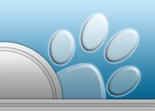 Abstracte pootaf:drukken op blauw Royalty-vrije Stock Afbeeldingen