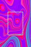 Abstracte psychedelische afficheachtergrond en hypnotic ontwerp, vloeistof royalty-vrije illustratie