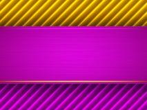 Abstracte purpere en gele achtergrond stock illustratie