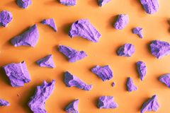 Abstracte purpere en oranje achtergrond Stock Fotografie
