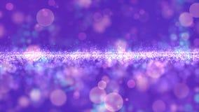 Abstracte purpere kleuren digitale deeltjes met bokehachtergrond royalty-vrije stock foto