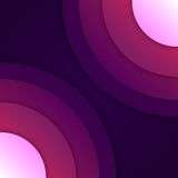 Abstracte purpere ronde vormenachtergrond Royalty-vrije Stock Fotografie