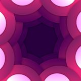 Abstracte purpere ronde vormenachtergrond Royalty-vrije Stock Afbeelding